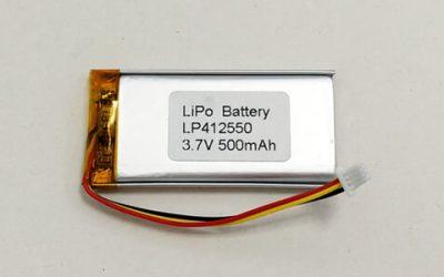 Standard Lithium Polymer Akkus— LP412550 3.7 V 500mAh