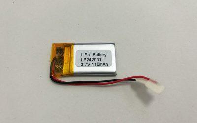Ultra Slim Li Po Akku LP242030 3.7V 110mAh 0.407Wh