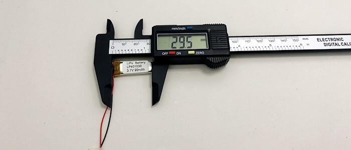 LP401030 3.7v 90mAh Length