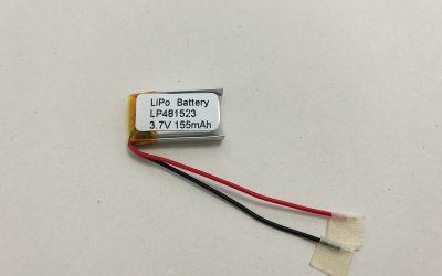 LP481523 3.7 V 155mAh 0.5735Wh LiPo Akku