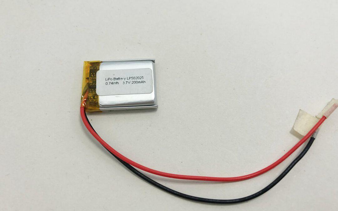 Kleine Li Po Batterie LP502025 3.7V 200mAh 0.74Wh