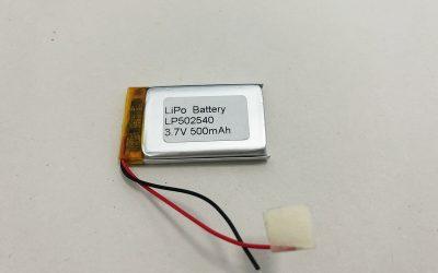 Beste LiPo Batterie LP502540 3.7V 500mAh 1.85Wh