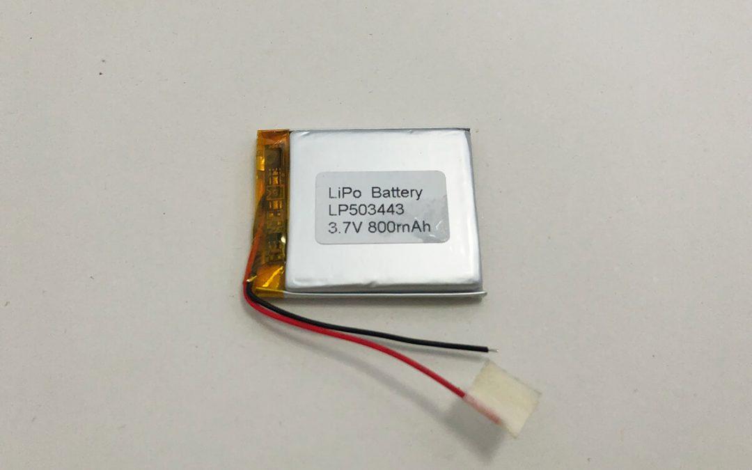 Li Polymer Akku LP503443 3.7V 800mAh 2.96Wh
