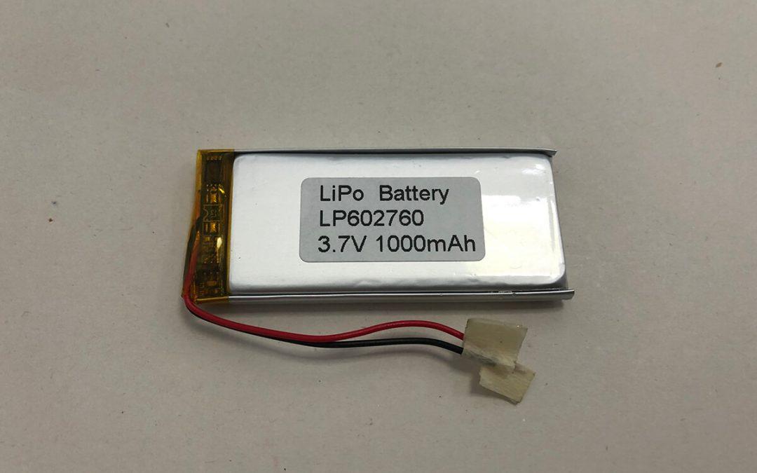 LP602760 3.7 V 1000 mAh 3.7Wh LiPo Akku