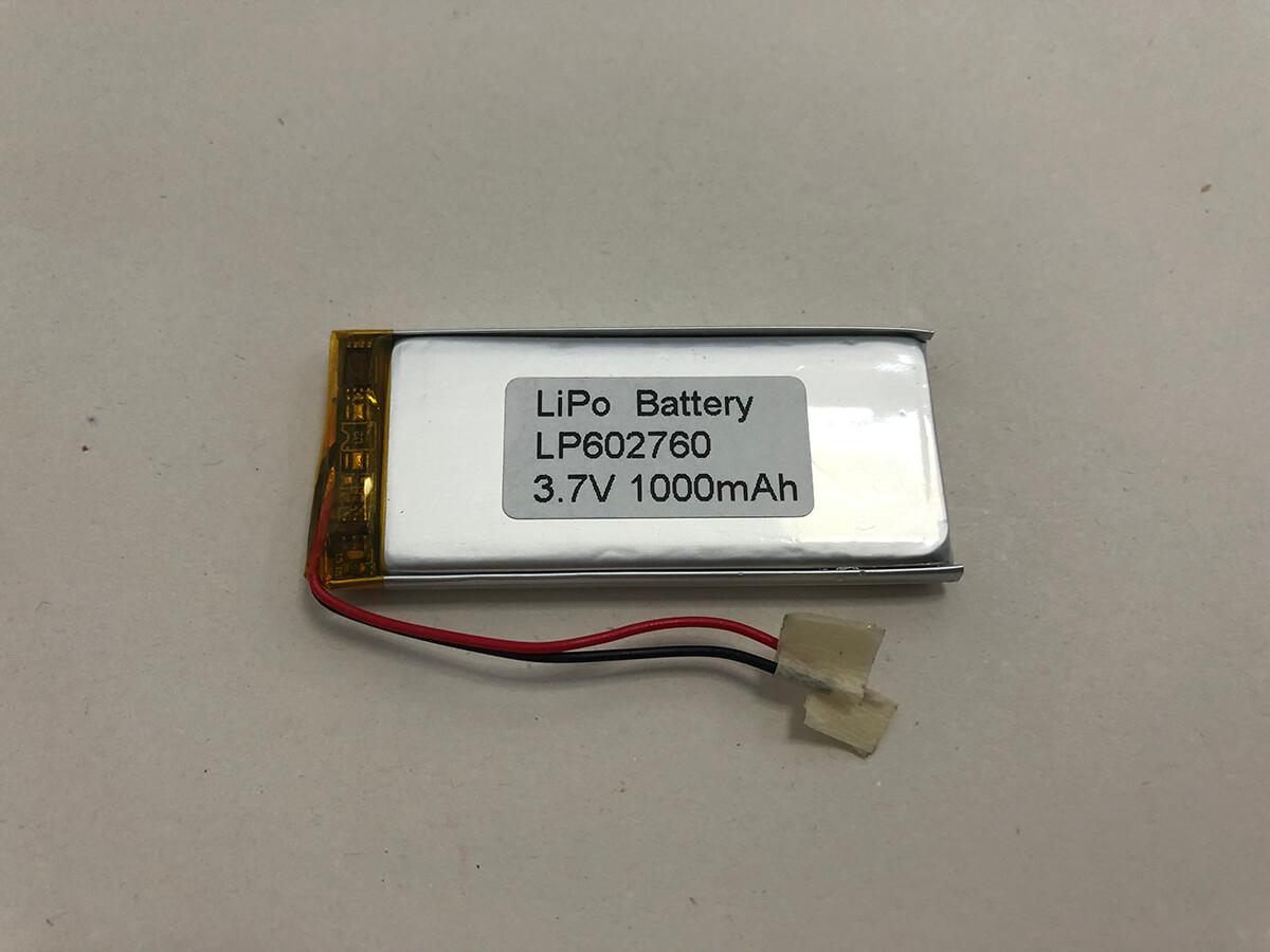 LP602760 3.7V 1000mAh 0