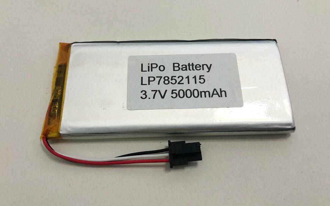 Langer LiPo Akku LP7852115 3.7V 5000mAh 18.5Wh