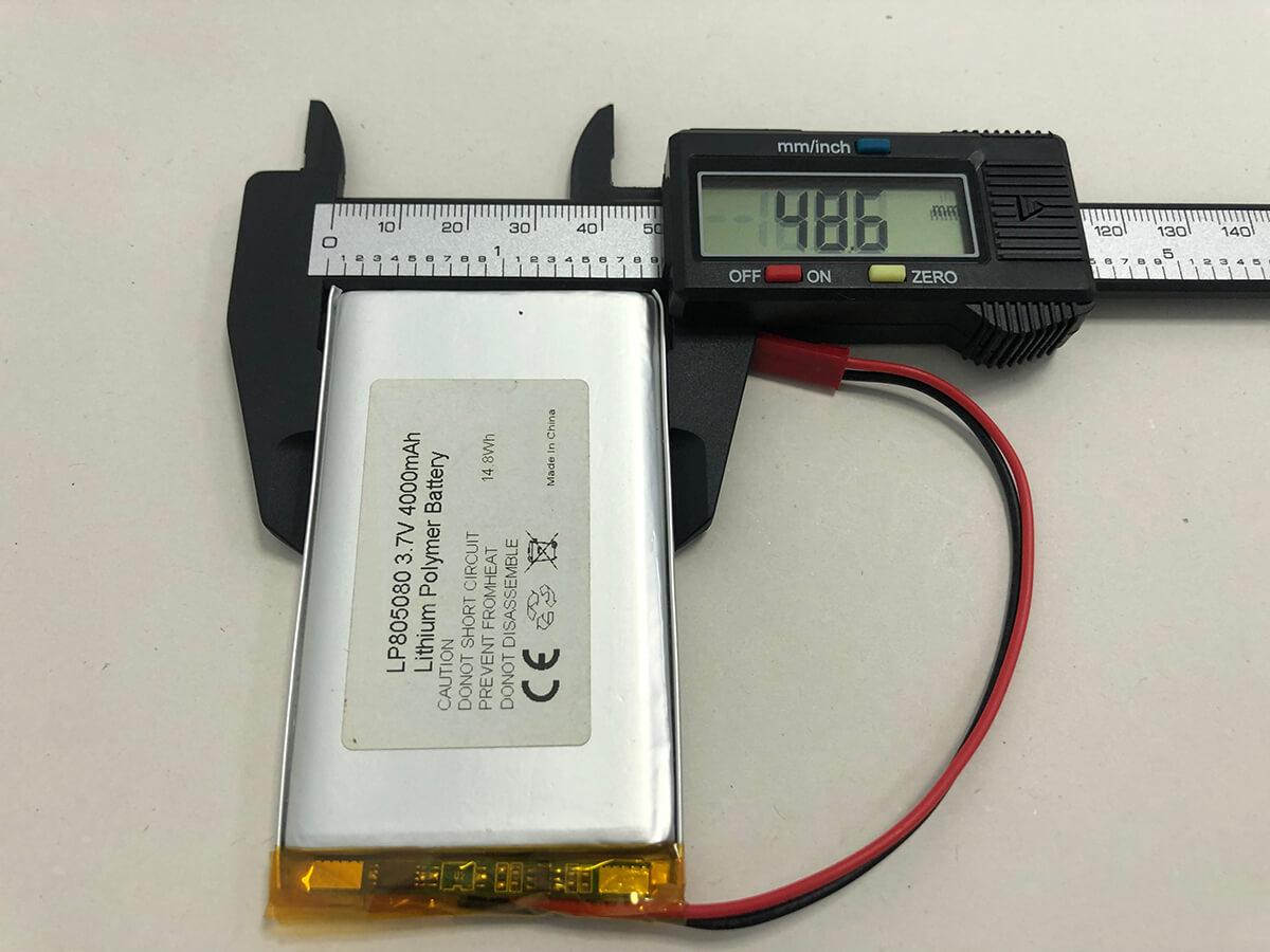 Lithium Polymer Akkus LP805080 3.7V 4000mAh