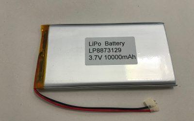 Lithium Polymer Akku LP8873129 3.7V 10000mAh 37Wh