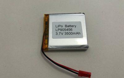 Quadratische Li Poly Batterie LP905456 3.7V 3500mAh 12.95Wh