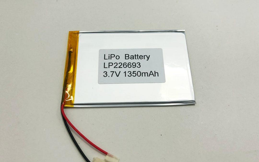 Ultradünne LiPo Zelle LP226693 3.7V 1350mAh 4.995Wh