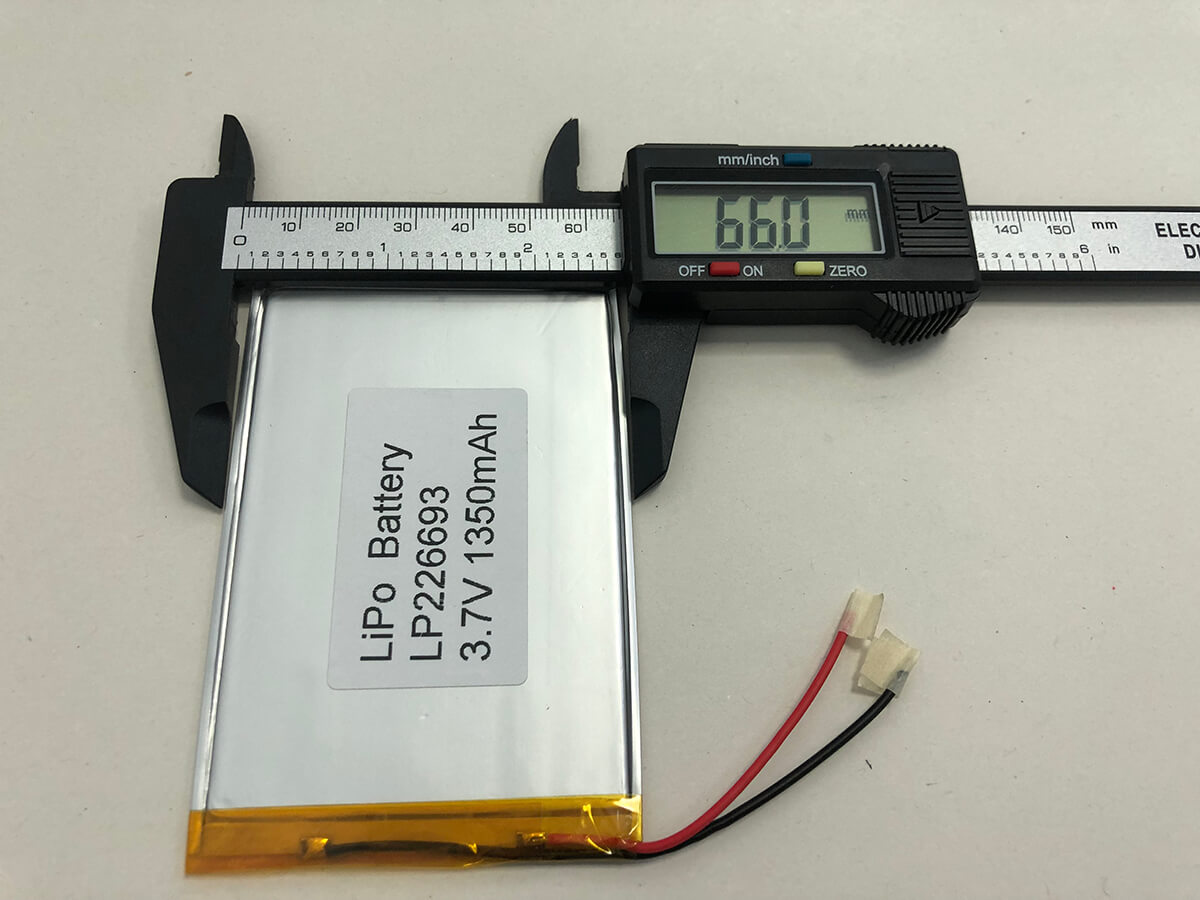 Lithium Polymer Akkus LP226693 3.7V 1350mAh