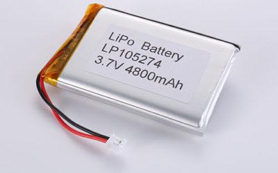 LiPo Akku Pack LP105274 3.7V 4800mAh 17.76Wh mit Schutzschaltung & Molex 51021-0200