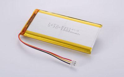 LiPo Akku LP1066121 3.7V 10000mAh 37Wh with PCM & NTC & JST SUHR-03V