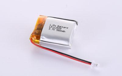 LiPo Akku LP112525 3.7V 580mAh mit JST SHR-02V-S-B