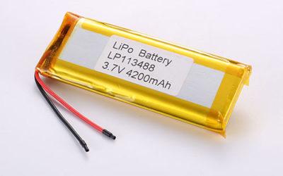 Lithium Polymer Akku LP113488 3.7V 4200mAh 15.54Wh mit Schutzschaltung & Drähten 50mm
