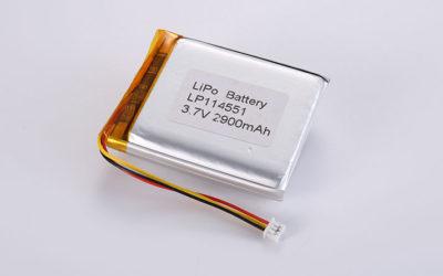 Li Poly Akku LP114551 3.7V 2900mAh 10.73Wh mit PCM & 10K NTC & Molex 51021-0300