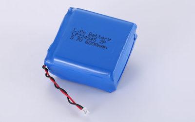 Lithium Polymer Akku Pack LP224545 2P 3.7V 6000mAh 22.2Wh mit Schutzschaltung & Molex 51021-0200