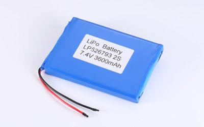 Li Polymer Akku Pack LP526793 2S 7.4V 3600mAh 26.64Wh mit Schutzschaltung & Drähten