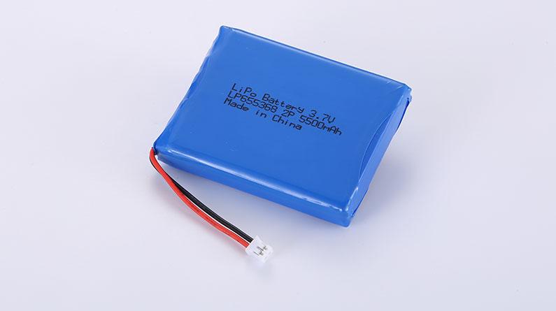 Li Po Akku Pack LP655368 2P 3.7V 5500mAh 20.35Wh mit Schutzschaltung & JST PHR-2