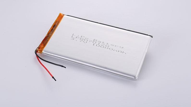 10000mAh Li-Po Akku LP8070120 3.7V 10000mAh 37Wh mit Schutzschaltung & Drähten