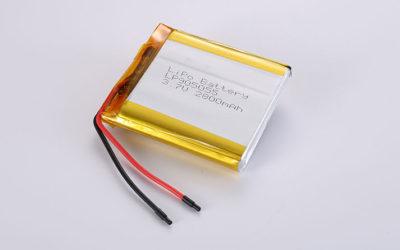Li Polymer Akku LP905055 3.7V 2800mAh 10.36Wh mit Schutzschaltung & Drähten