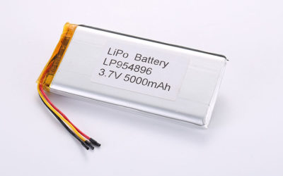 LiPo Akku Pack LP954896 3.7V 5000mAh 18.5Wh mit Schutzschaltung & 10K NTC & wires