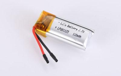 Li Poly Akku LP601125 3.7V 110mAh 0.41Wh mit Schutzschaltung & Drähten
