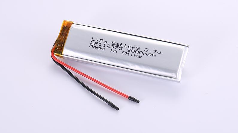 Lithium-Polymer-Akku LP112375 3.7V 2000mAh 7.4Wh mit Schutzschaltung & Drähten 50mm