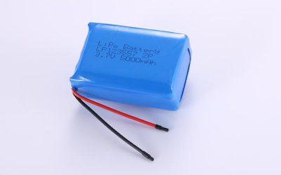 Lithium Polymer Akku LP123557 2P 3.7V 5000mAh 18.5Wh mit Schutzschaltung & Drähten 50mm