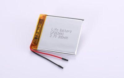 Li Po Akku LP263441 3.7V 300mAh 1.11Wh mit Schutzschaltung & Drähten 30mm