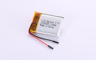 Li-Po Akku LP302025 3.7V 110mAh 0.407Wh mit Schutzschaltung & Drähten 20mm