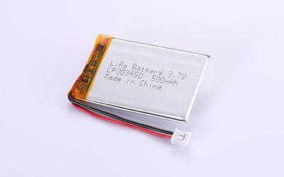 LiPo Akku LP303450 3.7V 500mAh 1.85Wh mit Schutzschaltung & Drähten 50mm und JST PHR-2