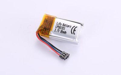 LiPo Akku LP501321 3.7V 80mAh 0.3Wh mit Schutzschaltung & Drähten 20mm und Molex 78172-0200