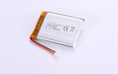 Li-Po Akku LP503648 3.7V 850mAh 3.14Wh mit Schutzschaltung & Drähten 40mm und Molex 51021-0200