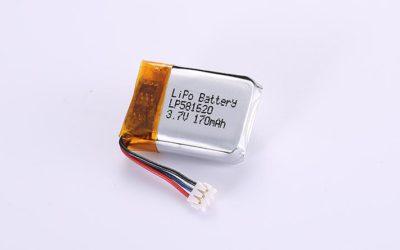 Lithium-Polymer-Akku LP581620 3.7V 170mAh 0.63Wh mit Schutzschaltung & Drähten 50mm