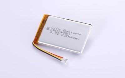 Lithium Polymer Akku LP624465 3.7V 2200mAh 8.14Wh mit Schutzschaltung & 10K NTC & Drähten 50mm und JST PHR-3