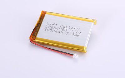 Li-Poly Akku LP654060 3.7V 2000mAh 7.4Wh mit Schutzschaltung & Drähten 50mm und Molex 51021-0200