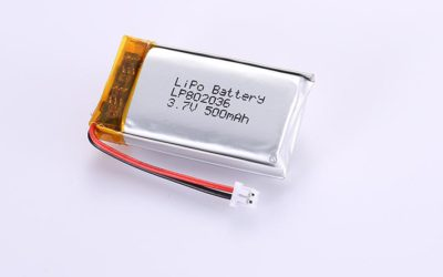 Li Po Akku LP802036 3.7V 500mAh 1.85Wh mit Schutzschaltung & Drähten 30mm und Molex 51021-0200