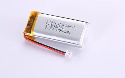 Li-Poly Akku LP902042 3.7V 800mAh 2.96Wh mit Schutzschaltung & Drähten 40mm und Molex 51021-0200