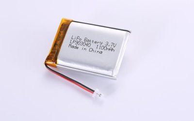 Li-Polymer Akku LP903040 3.7V 1100mAh 4.07Wh mit Schutzschaltung & Drähten 35mm und JST SHR-02V-S