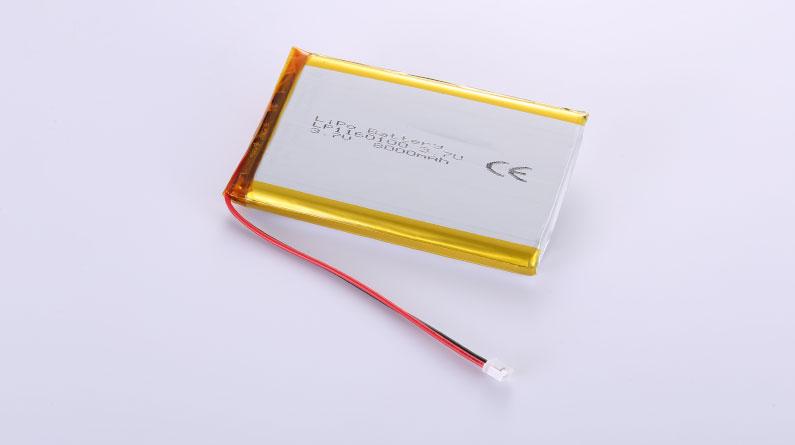 Lithium Polymer Akkus LP1160100  3.7V 8000mAh 29.6Wh mit Schutzschaltung & Drähten 100mm & JST PHR-2