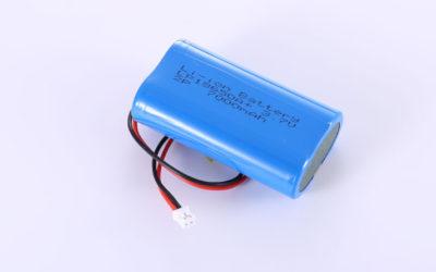 Li-ion Akkus LP18650A+ 2P 3.7V 7000mAh 25.9Wh mit Schutzschaltung & Drähten 70mm & JST PHR-2