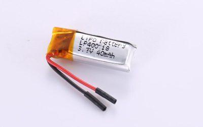 Lithium-Polymer-Akku LP400718 3.7V 40mAh 0.148Wh ohne Schutzschaltung, mit Drähten 10mm