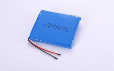 Lithium Polymer Akku LP426580 2S 7.4V 4000mAh 29.6Wh mit Schutzschaltung & Drähten 50mm