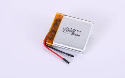 Lithium-Polymer-Akku LP452528 3.7V 300mAh 1.11Wh mit Schutzschaltung & Drähten 20mm