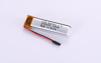Li Po Akku LP500935 3.7V 120mAh 0.44Wh mit Schutzschaltung & Drähten 30mm