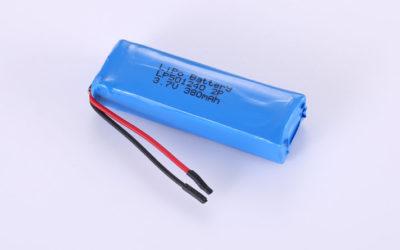 Lithium-Polymer-Akku LP501240 2P 3.7V 380mAh 1.41Wh mit Schutzschaltung & Drähten 30mm