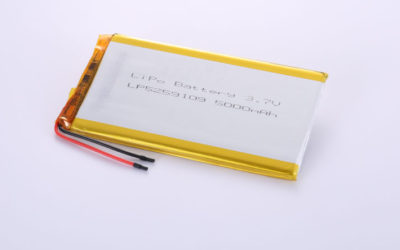 Lithium Polymer Akku LP5259109 3.7V 5000mAh 18.5Wh mit Schutzschaltung & Drähten 50mm