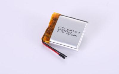 Li Po Akku LP592629 3.7V 460mAh 1.7Wh mit Schutzschaltung & Drähten 20mm