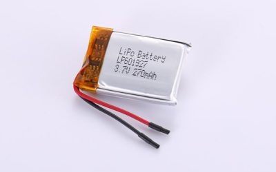 LiPo Akku LP601927 3.7V 270mAh 1.0Wh mit Schutzschaltung & Drähten 20mm